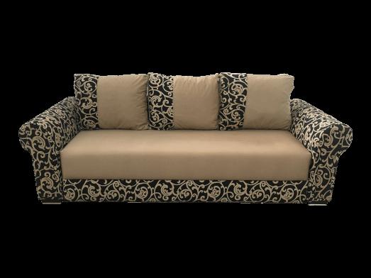 Canapea extensibilă cappuccino cu imprimeu maro - model BELLA