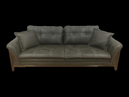 Canapea fixă gri închis - model BIANCA