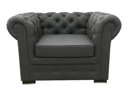Fotoliu fix, negru - model CHESTERFIELD