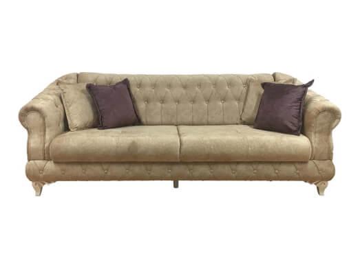 Canapea extensibilă 3 locuri, cappuccino - model DATCA