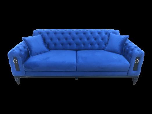 Canapea fixă 3 locuri albastră - model GLORIA