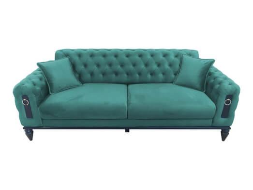 Canapea fixă 3 locuri turcoaz - model GLORIA