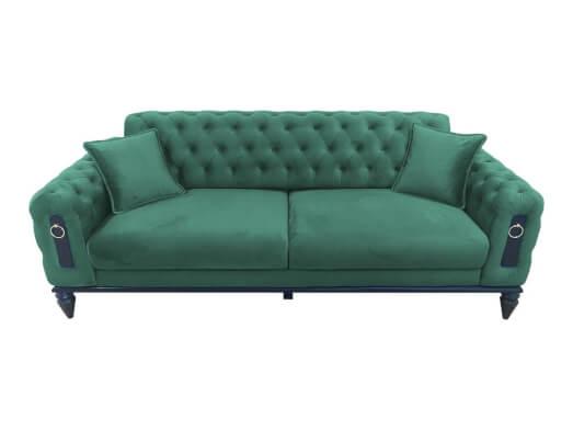 Canapea fixă 3 locuri verde - model GLORIA