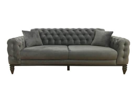 Canapea 3 locuri, gri deschis - model JASMINE