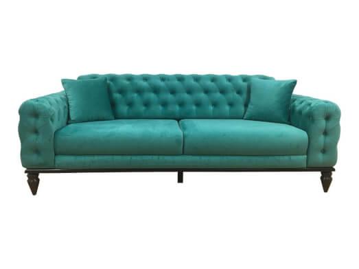 Canapea 3 locuri, turcoaz - model JASMINE
