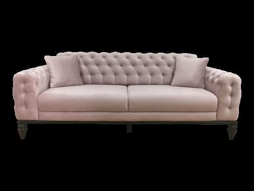 Canapea 3 locuri, roz pal - model JASMINE