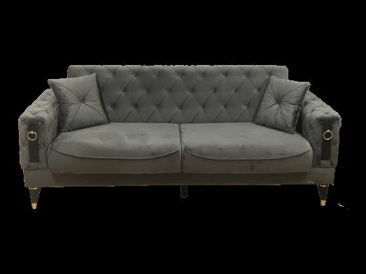 Canapea extensibilă 3 locuri, gri - model LIZBON