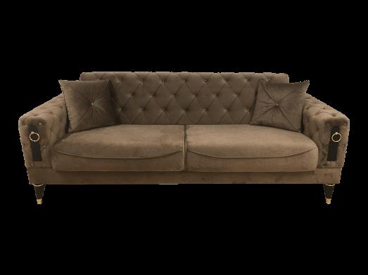 Canapea extensibilă 3 locuri maro - model LIZBON