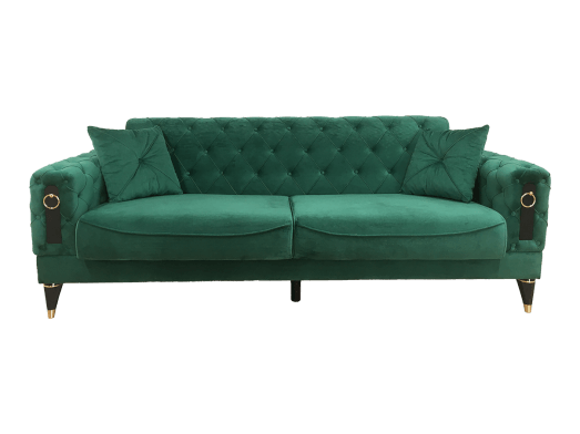 Canapea extensibilă 3 locuri, verde - model LIZBON