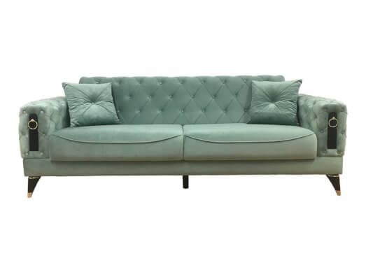Canapea extensibilă 3 locuri, verde pastel - model LIZBON