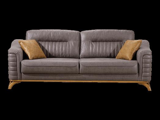 Canapea extensibilă 3 locuri, gri - model LARISSA