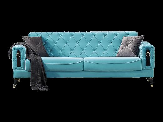 Canapea extensibilă 3 locuri, turcuaz - model LIZBON