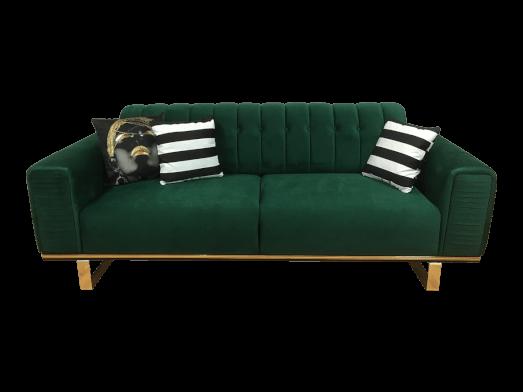 Canapea fixă 3 locuri, verde - model OTTO