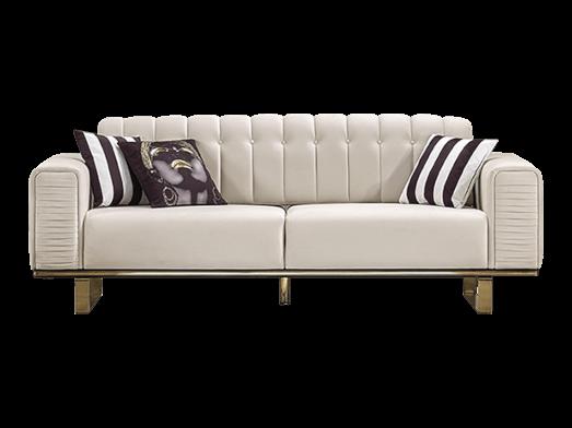 Canapea fixă 3 locuri, crem - model OTTO