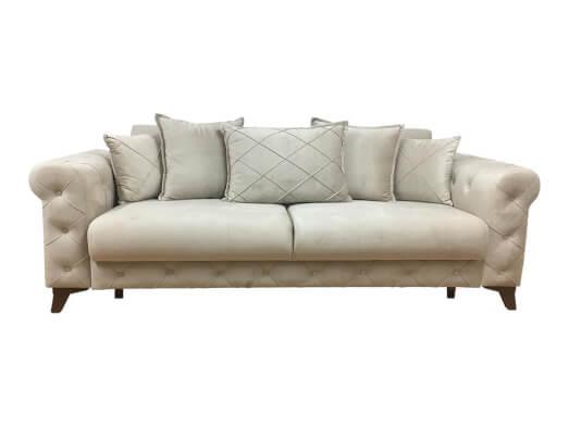 Canapea extensibilă 3 locuri, crem - model RIVA