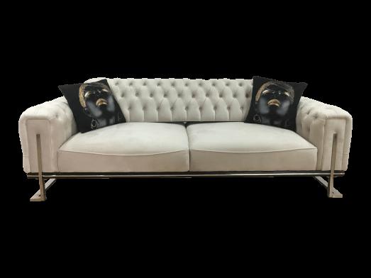 Canapea fixă 3 locuri, albă - model ROLEX