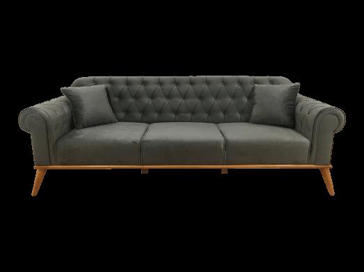 Canapea fixă 3 locuri, gri - model SOLO