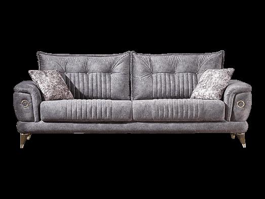 Canapea extensibilă 3 locuri, gri - model TORONTO