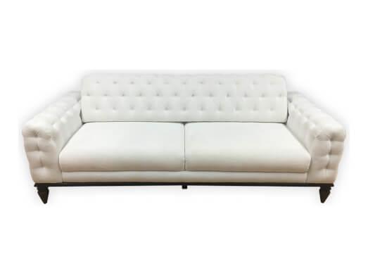 Canapea 3 locuri albă - model JASMINE