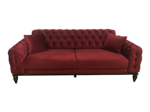 Canapea 3 locuri, bordo - model JASMINE