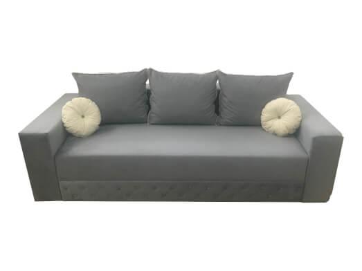 Canapea extensibilă 3 locuri, gri - model KANSAS