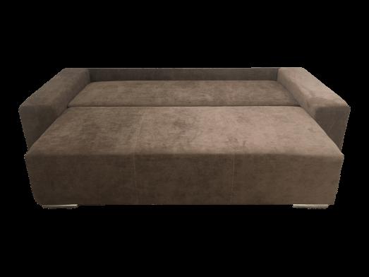 Canapea-extensibila--cu-tapiterie-de-stofa---model-Urban---extinsa-din-fata-ec