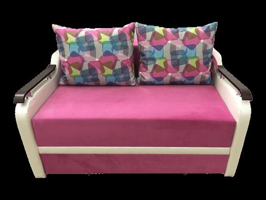 Canapea extensibilă 2 locuri roz - MARIA