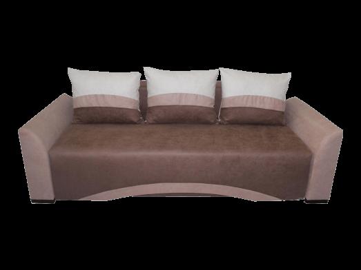 Canapea extensibilă 3 locuri, maro - model VENEȚIA