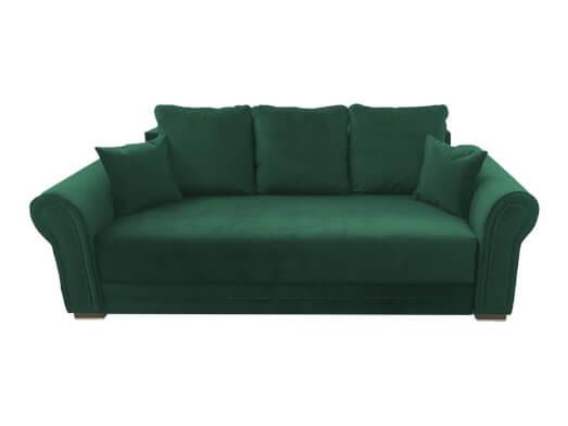 Canapea extensibilă verde închis - model ALEXANDRA