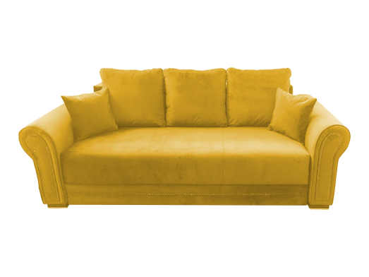 Canapea extensibilă galben - model ALEXANDRA