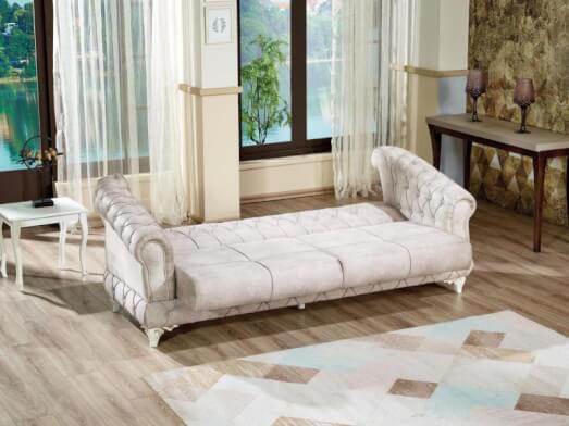 Canapea extensibilă 3 locuri, crem - model DATCA