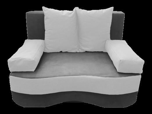 Canapea extensibilă 2 locuri, gri alb - model JUNIOR