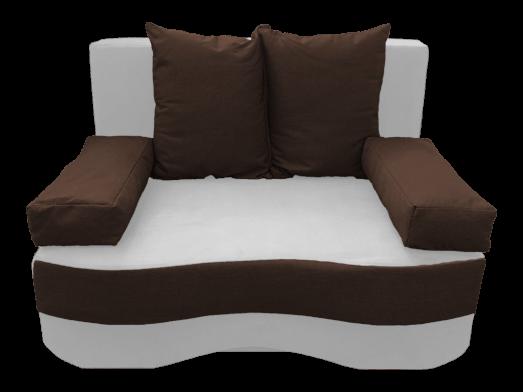 Canapea extensibilă 2 locuri, alb maro - model JUNIOR