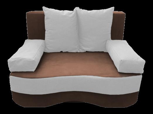 Canapea extensibilă 2 locuri, maro alb - model JUNIOR