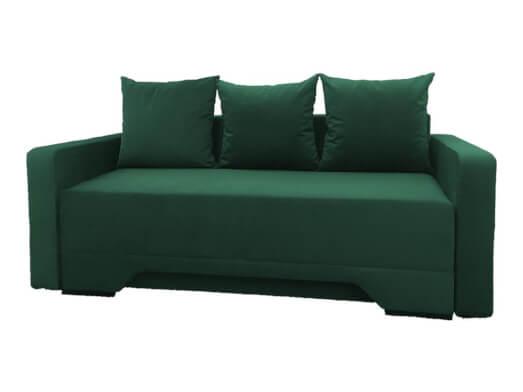 Canapea extensibilă cu 3 locuri, tapiterie din catifea - model MIRELA