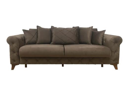 Canapea extensibilă 3 locuri, maro închis - model RIVA