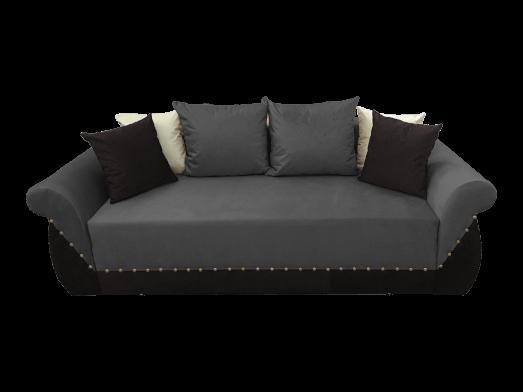 Canapea extensibilă 3 locuri, gri negru - model Royal