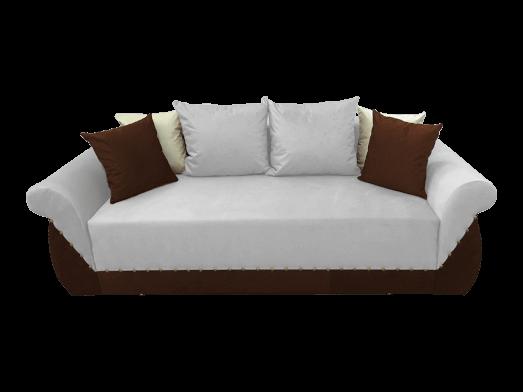 Canapea extensibilă 3 locuri, alb maro - model Royal
