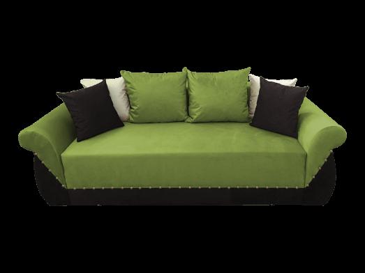Canapea extensibilă 3 locuri, verde deschis negru - model Royal