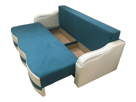 Canapea-extensibila-albastru-cu-alb-lada-model-MILANO-93