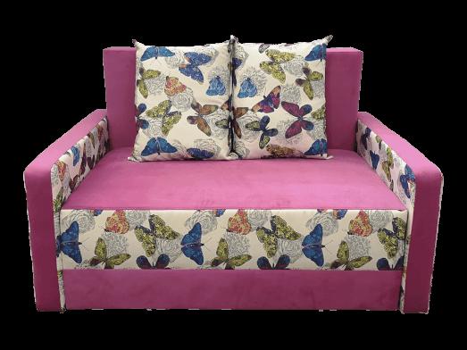 Canapea extensibilă 2 locuri roz - model ISABEL