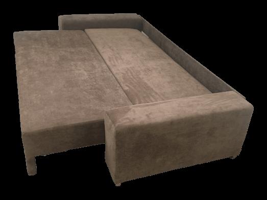 Canapea-extensibila-cu-tapiterie-de-stofa-maro-Urban---vedere-din-lateral-d1