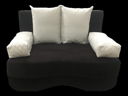 Canapea extensibilă 2 locuri neagră - JUNIOR