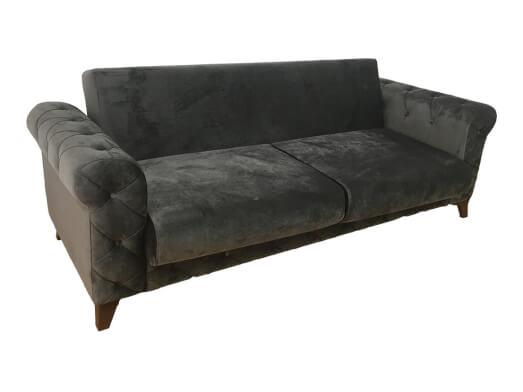 Canapea-extensibila-gri---RIVA-fara-perne-unghi-ce