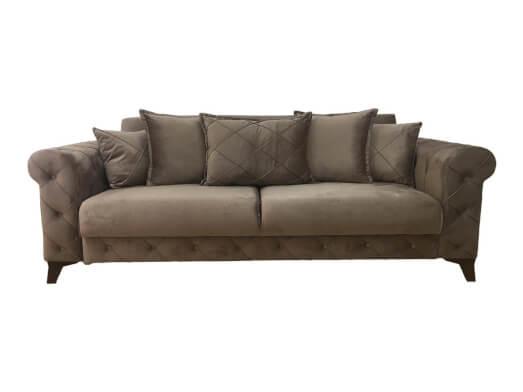 Canapea extensibilă 3 locuri, maro - model RIVA