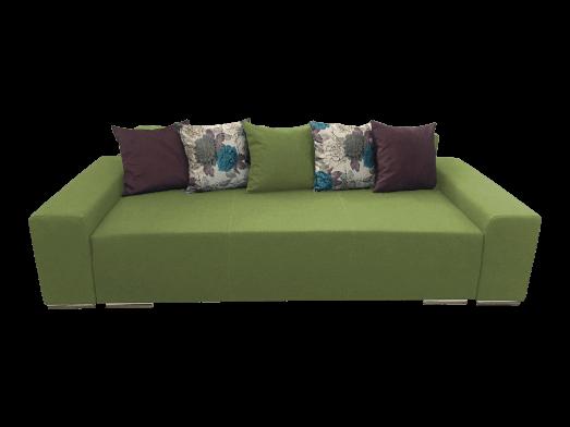 Canapea extensibilă 3 locuri verde deschis - URBAN