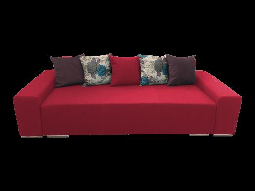 Canapea extensibilă 3 locuri roșie - URBAN