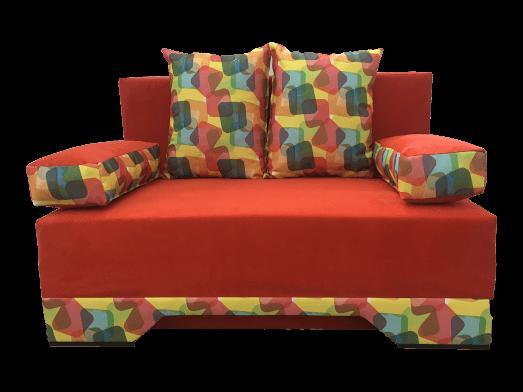 Canapea extensibilă 2 locuri portocalie - NICO