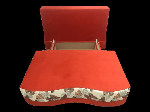 Canapea-extensibila-portocalie-cu-fluturi---model-Junior---lada-c0