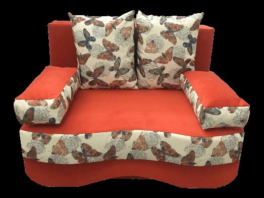Canapea extensibilă 2 locuri portocalie - model JUNIOR